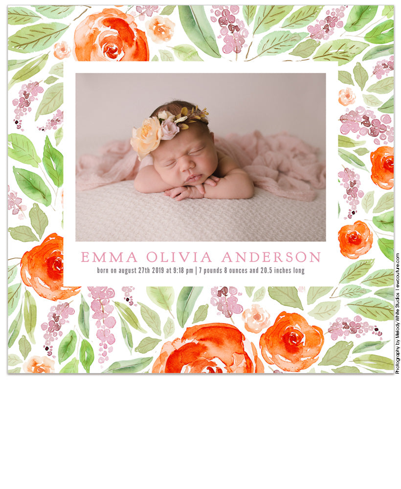 Grandma's Garden Acrylic Print Box and USB
