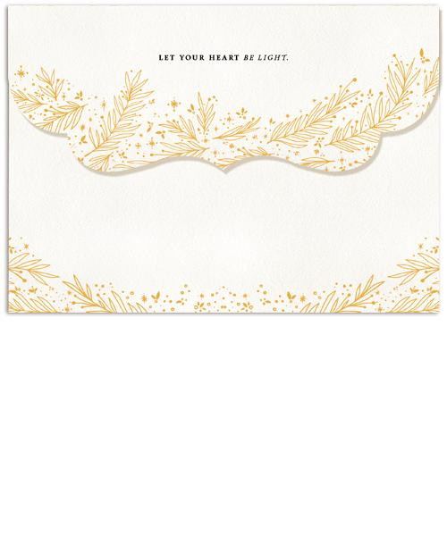 Heart Be Light Collage 7x5 Top Folded Luxe Card, Address Label and Circle Sticker