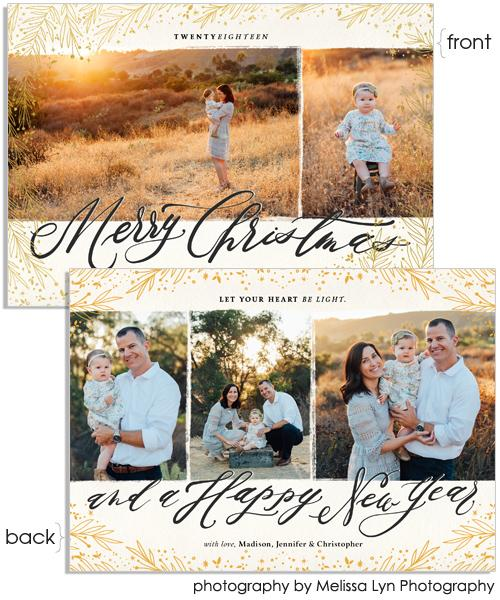 Heart Be Light 7x5 Meadow Border Foil Press Card, Address Label and Circle Sticker