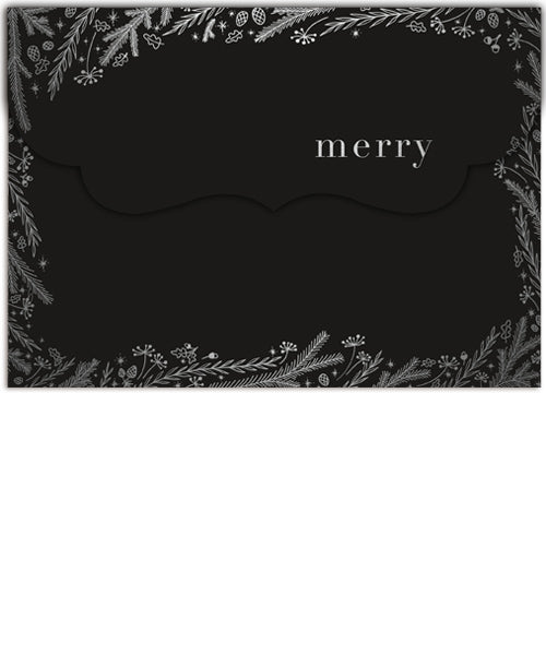Icy Fields Collage 7x5 Folded Luxe Card, Address Label and Circle Sticker