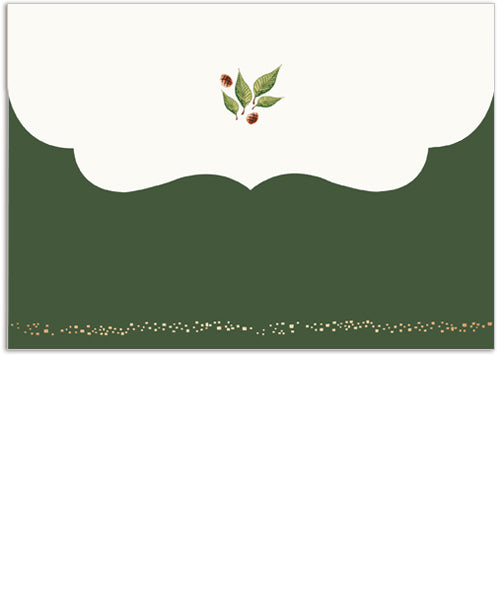 Joy-filled Wishes 7x5 Folded Luxe Card, Address Label and Circle Sticker