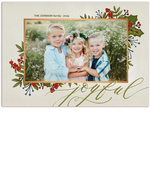 Joyful Heart 7x5 Flat Card, Address Label and Circle Sticker