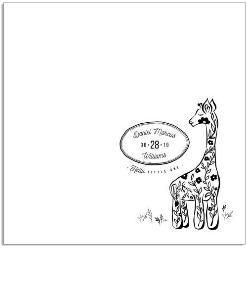 Little One Giraffe 12x12 Miller's Signature Album Custom Illustrated Cover