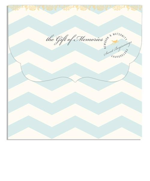 Little Boy Blue Gift Card 5x5 Top Folded Luxe Card