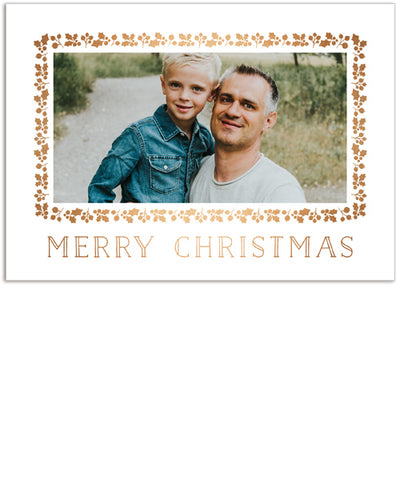 Merry Year in Review 7x5 Folded Card, Address Label and Circle Sticker
