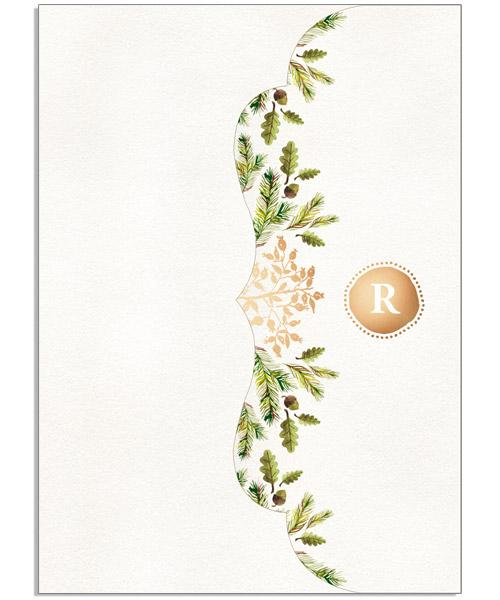 Merry Year in Review 5x7 Side Folded Luxe Card, Address Label and Circle Sticker