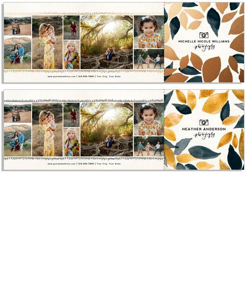 Modern Florals 12x4 Perforated Flat Card