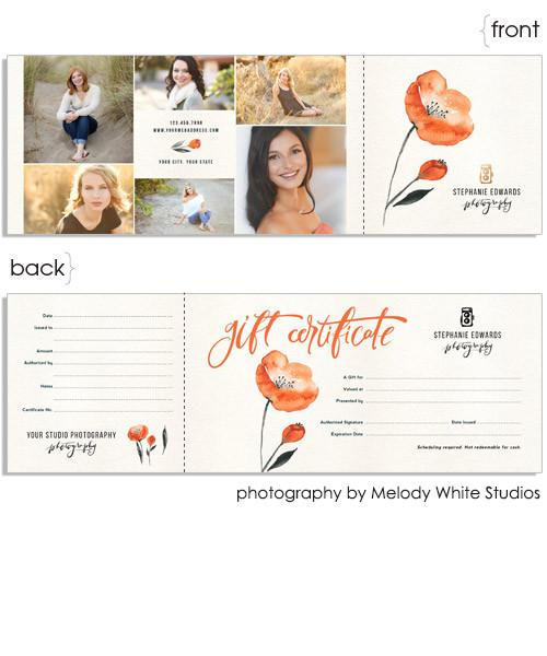 Poppies 12x4 Perforated Flat Card
