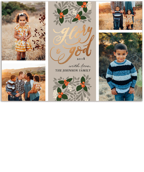 Rejoice Collage 7x5 Flat Card, Address Label and Circle Sticker