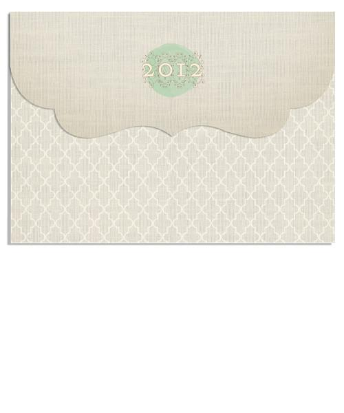 Ivory Diamonds 7x5 Top Folded Luxe Card and Address Label