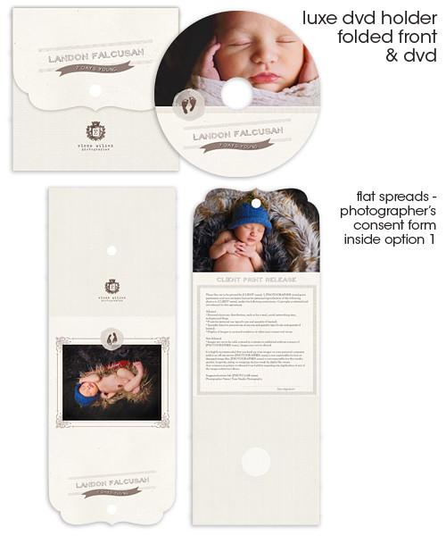 Footprints Luxe DVD Case and DVD Label