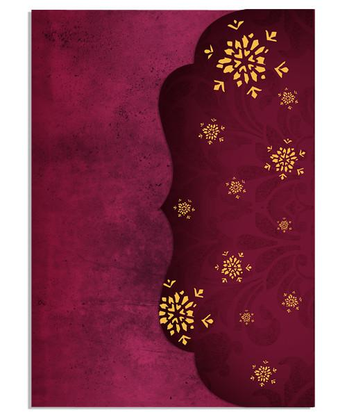 Snowfall Wishes 5x7 Side Folded Luxe Card and Address Label
