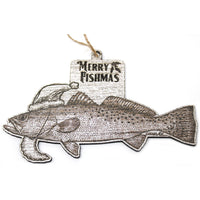 Copy of Wood Christmas Ornaments - Spotted Sea Trout Fishmas Ornaments