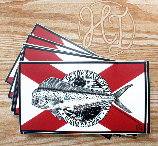 Vinyl Sticker - FL Flag Mahi