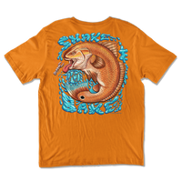 Classic Short Sleeve Tee - Redfish Shake and Bake back print tee