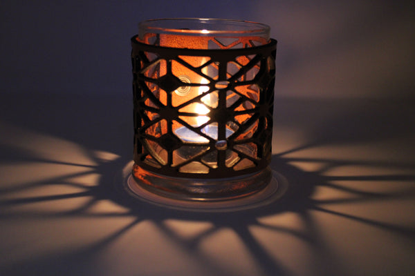 Leather Luminary Candle Set - Kaleidoscope