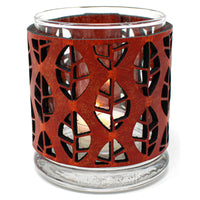 Leather Luminary Candle Set - Autumn Leaves