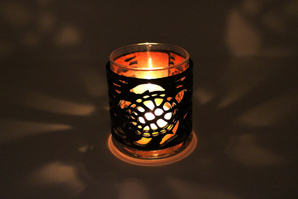 Leather Luminary Candle Set - Sea Turtles