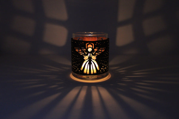 Leather Luminary Candle Set - Angel