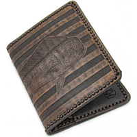 Hand Stitched Leather Wallet - Mahi American Flag