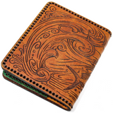 Hand Stitched Leather Wallet - Mahi Light Snack