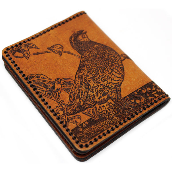 Hand Stitched Leather Wallet -  Quail Call