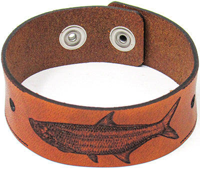 Men's Leather Wristband - The Tarpon