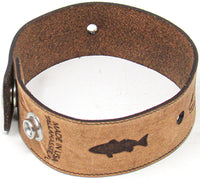 Men's Leather Wristband - The Redfish