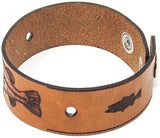 Men's Leather Wristband - The Largemouth Bass