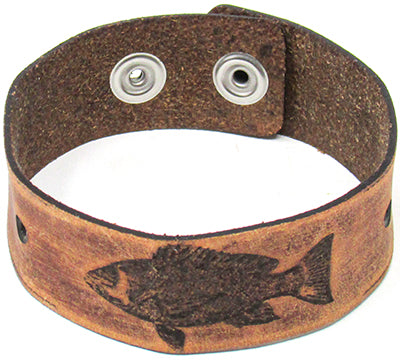 Men's Leather Wristband - The Snapper