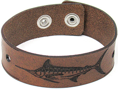 Men's Leather Wristband - The Marlin