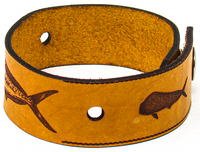 Men's Leather Wristband - The Mahi