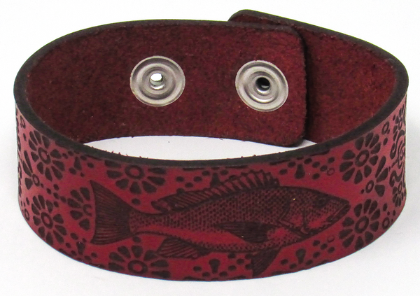 Women's Leather Bracelet - Snapper Fancy