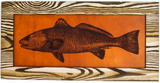 Wall Art Decor - Leather and Wood Redfish Art