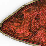Wall Art - Wood Red Snapper Silhouette Art