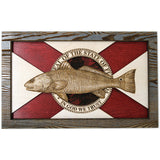 Wall Art - Redfish Florida Flag 3D Wood Art