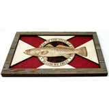 Wall Art - Spotted Seatrout Florida Flag 3D Wood Art