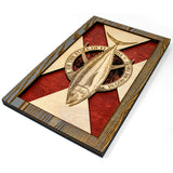Wall Art - Yellowfin Florida Flag 3D Wood Art