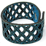 Women's Leather Bracelet - Mermaid Scales Cut