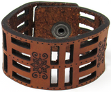 Women's Leather Cuff - Flora Foura Cut Cuff