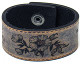 Women's Leather Cuff -Lovely Blossom Cuff