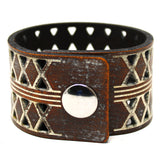 Women's Leather Cuff - Crisscross Cuff