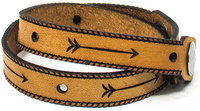 Women's Leather Wrap - Arrows Wrap