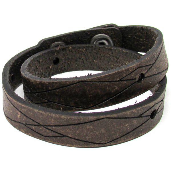 Women's Leather Wrap - Unbalanced Wrap