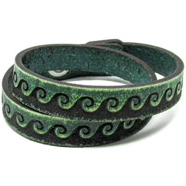 Women's Leather Wrap - Tidal Wave Wrap
