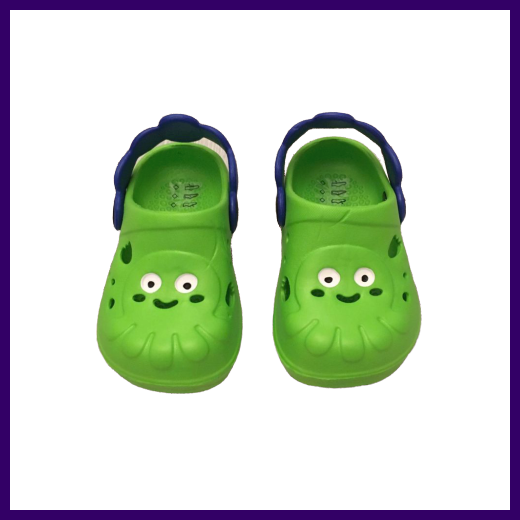 Soft Touch Green Octopus EVA Clogs