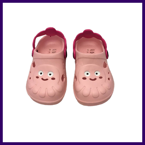 Soft Touch Baby Pink Octopus Rubber Clogs