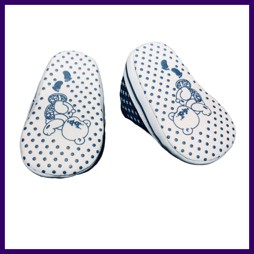 Soft Touch Star Print Baby Shoes in Dark Blue