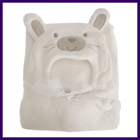 Snuggle Baby Bunny Rabbit Baby Wrap and Towel