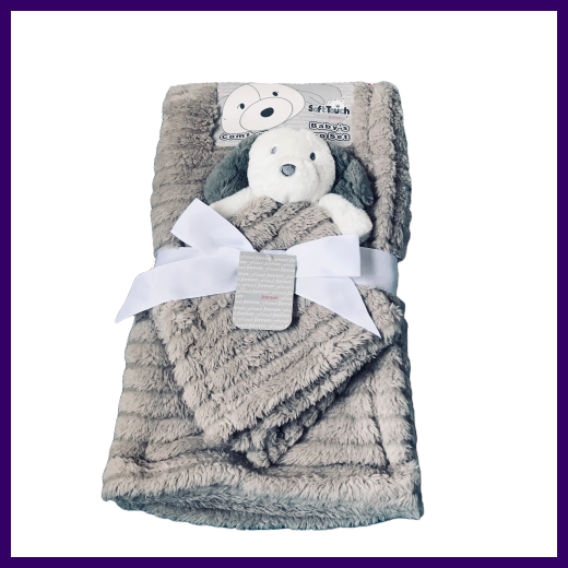 Soft Touch Baby Wrap Blanket with Puppy Dog Comforter